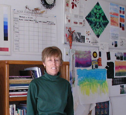Katherine Colwell in her Studio